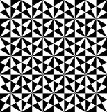 Black and white geometric seamless pattern with triangle, abstra Stock Photography