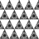 Black and white geometric seamless pattern with triangle, abstract background, vector. Vector illustration Stock Photo