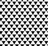Black and white geometric seamless pattern with triangle and tra Royalty Free Stock Photography