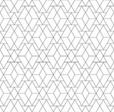 Black and white geometric seamless pattern with triangle and tra Royalty Free Stock Image