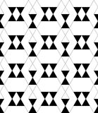 Black and white geometric seamless pattern with triangle and tra Royalty Free Stock Images