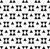 Black and white geometric seamless pattern with triangle and tra Royalty Free Stock Photo