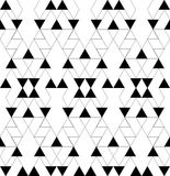 Black and white geometric seamless pattern with triangle and tra Stock Photo
