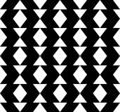 Black and white geometric seamless pattern with triangle and tra Stock Photography