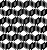 Black and white geometric seamless pattern Royalty Free Stock Photography