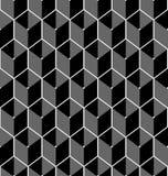 Black and white geometric seamless pattern Royalty Free Stock Photos