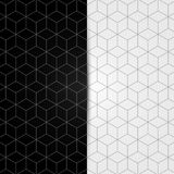 Black and white geometric seamless pattern. Vector Stock Images