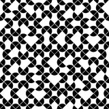 Black and white geometric seamless pattern, vector contrast sphe Stock Images
