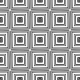 Black and white geometric seamless pattern. Vector eps 10 Royalty Free Illustration