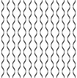 Black and white geometric seamless pattern with wave line, abstr Stock Image