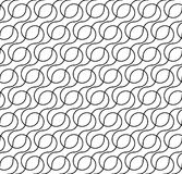 Black and white geometric seamless pattern with wave line, abstr stock illustration