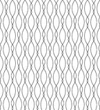 Black and white geometric seamless pattern with wave line, abstr Royalty Free Stock Photo