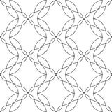 Black and white geometric seamless pattern with wave line, abstr Royalty Free Stock Photos