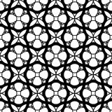 Black and white geometric seamless pattern with wavy line and ci Royalty Free Stock Photo