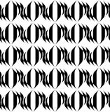 Black and white geometric seamless pattern with wavy stripe, abs Stock Photography