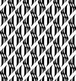 Black and white geometric seamless pattern with wavy stripe, abs Royalty Free Stock Image