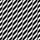 Black and white geometric seamless pattern with wavy stripe line Stock Photo
