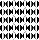 Black and white geometric seamless pattern with wavy stripe line Stock Image