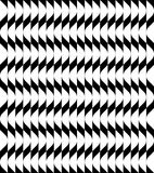 Black and white geometric seamless pattern with wavy stripe line Royalty Free Stock Photo