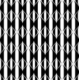 Black and white geometric seamless pattern with wavy stripe line Royalty Free Stock Photography