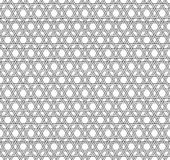 Black and white geometric seamless pattern with weave style. Stock Images