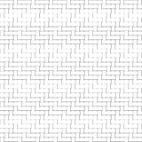 Black and white geometric seamless pattern with weave style. Stock Photos