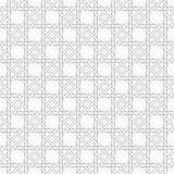 Black and white geometric seamless pattern with weave style. Royalty Free Stock Photography