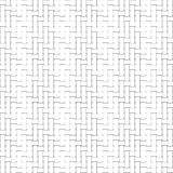 Black and white geometric seamless pattern with weave style. Royalty Free Stock Images
