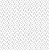 Black and white geometric seamless pattern with weave style. Stock Image