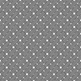 Black and white geometric seamless pattern with weave style. Stock Photo