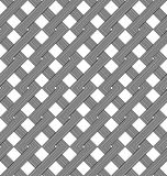 Black and white geometric seamless pattern with weave style. Stock Photography