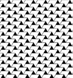 Black and white geometric seamless pattern with zigzag line and Stock Photos
