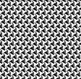 Black and white geometric seamless pattern with zigzag line and Royalty Free Stock Photos