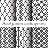 Black and White Geometric Seamless Patterns Royalty Free Stock Image