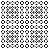 Black or white geometric seamless vector pattern or texture Royalty Free Stock Image