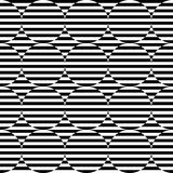 Black and white geometric stripe seamless pattern abstract backg Royalty Free Stock Photography