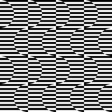 Black and white geometric stripe seamless pattern abstract backg Stock Photography