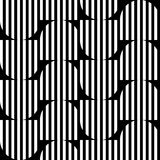 Black and white geometric stripe seamless pattern abstract backg Stock Photo