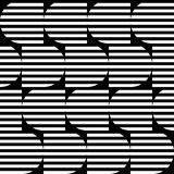 Black and white geometric stripe seamless pattern abstract backg Stock Images
