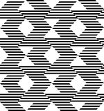 Black and white geometric stripe seamless pattern abstract backg Royalty Free Stock Image