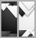 Black and white geometric tech banners Royalty Free Stock Photo
