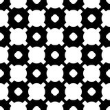Black & white geometric texture, circles, crosses. Geometric pattern. Vector monochrome seamless pattern. Black & white geometric texture. Modern stylish Royalty Free Illustration
