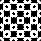 Black & white geometric texture, circles, crosses. Vector monochrome seamless pattern. Black & white geometric texture. Modern stylish geometrical background Royalty Free Illustration