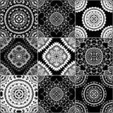 Black and white geometric tiles Royalty Free Stock Photo