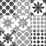 Black and white geometric tiles Royalty Free Stock Images