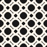 Simple black and white geometric vector seamless pattern with circles and lines. Black and white geometric vector seamless pattern. Ornamental texture with Royalty Free Stock Photography