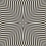 Black and White Geometric Vector Shimmering Optical Illusion. Modern Flickering Effect. Op Art Design stock illustration