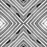 Black and white Geometric Watercolor. Creative Sea stock photography