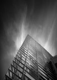Black and white geometry glass building. Black and white urban geometry glass building Royalty Free Stock Photo