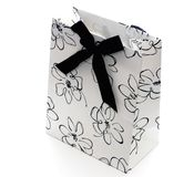 Black And White Gift Bag Royalty Free Stock Photo